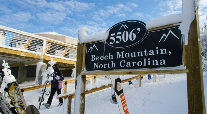 Beech Mountain, North Carolina in the Winter